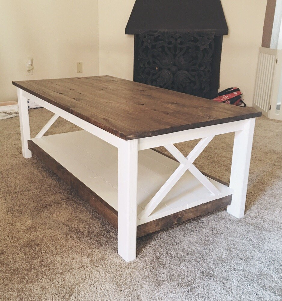 Shabby Chic Restoration Reclaimed Cottage Coffee Table