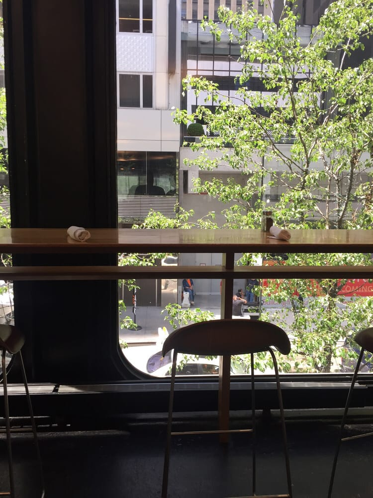 Window side seating at the moma cafe 2 39 yelp for Window side seating