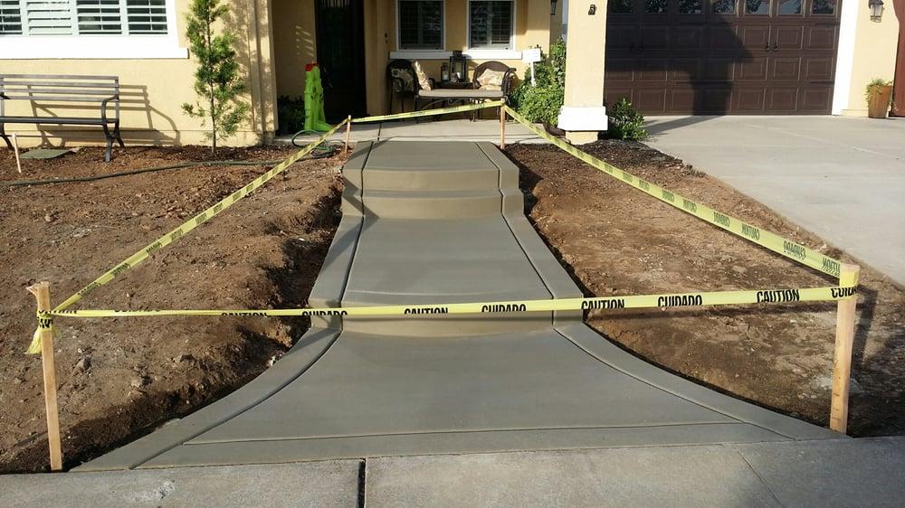 New walkway to front door! - Yelp