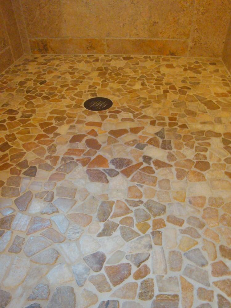 Spa Style Stone Pebble Shower Floor Yelp