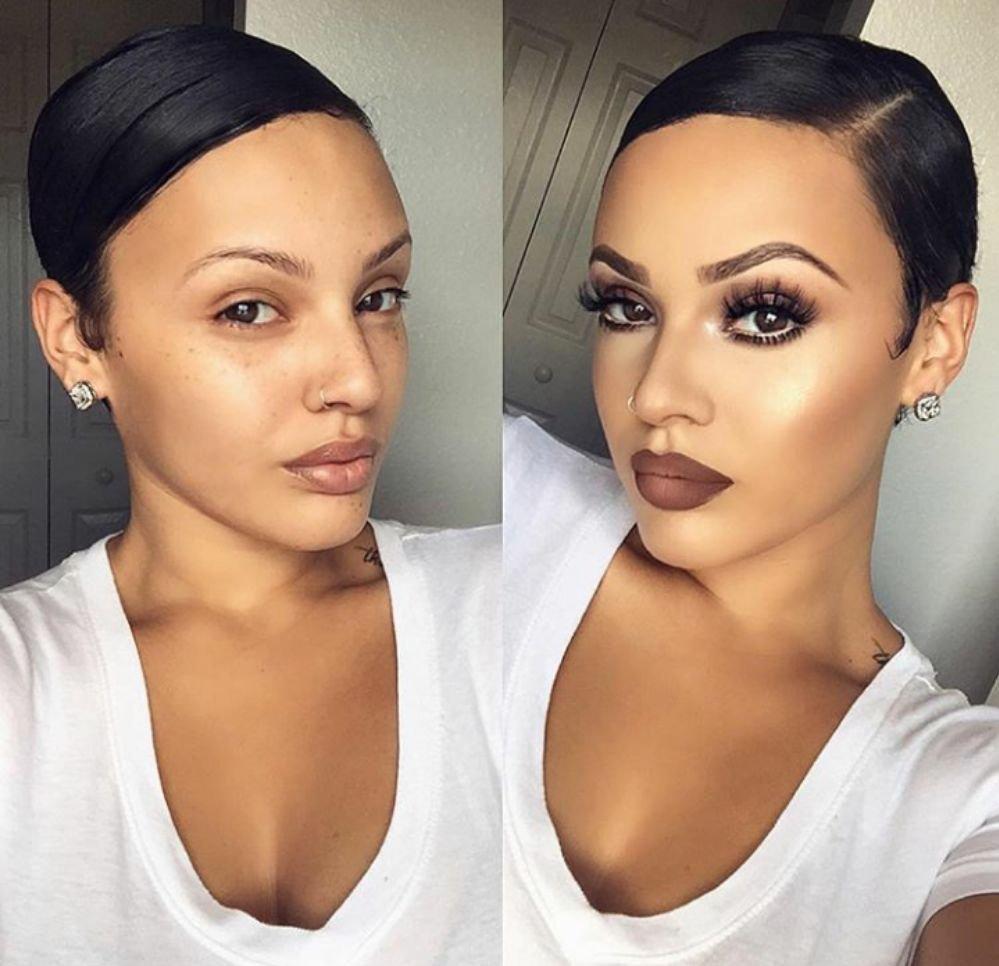 before + after: evening makeup gilbert makeup artist, tempe