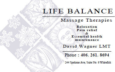 Life Balance Massage Therapies: 244 Spokane Ave, Whitefish, MT
