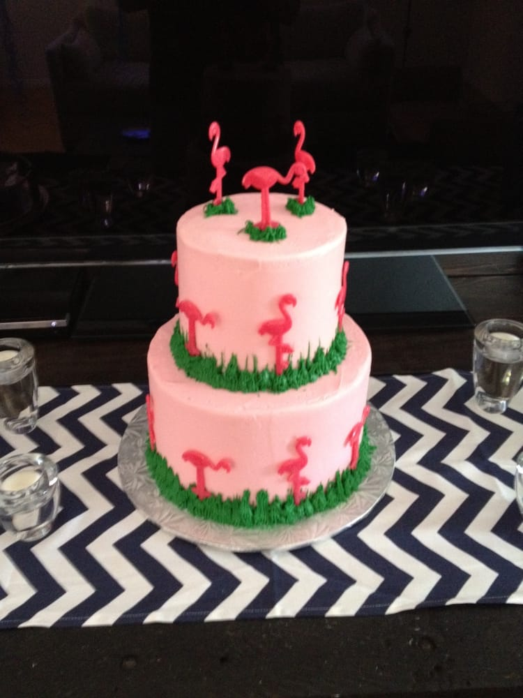 photo of piece of cake los angeles ca united states pink flamingo