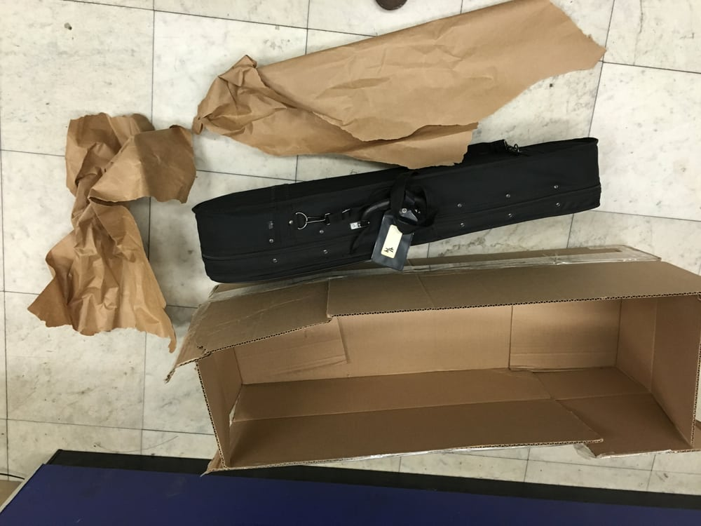 they charged 45 to fragile pack a violin with a used single