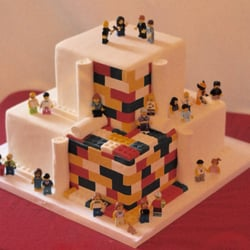 Photo Of Premier Pastry   Rochester, NY, United States. Personalized Lego Wedding  Cake