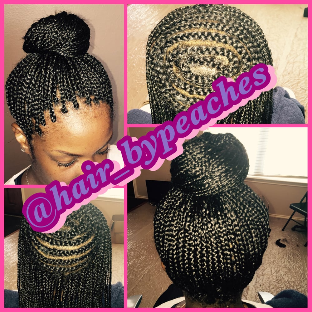 Mohawk With Box Braids In Middle Yelp