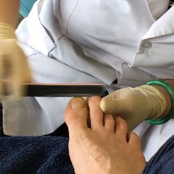 Admirable massage and nailing