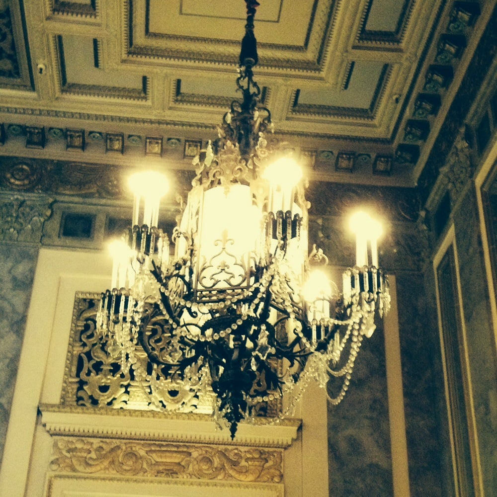 phantom of the opera esque chandeliers lend to the