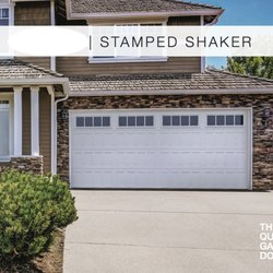 Photo Of Fresno Garage Doors Fresno, CA, United States. Stamped Shaker White