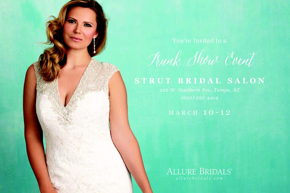 Exclusive Allure Bridals Plus Size Wedding Dress Trunk Show March 10