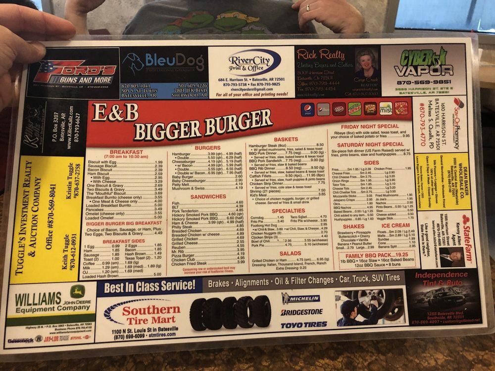 Food from E&B Bigger Burger