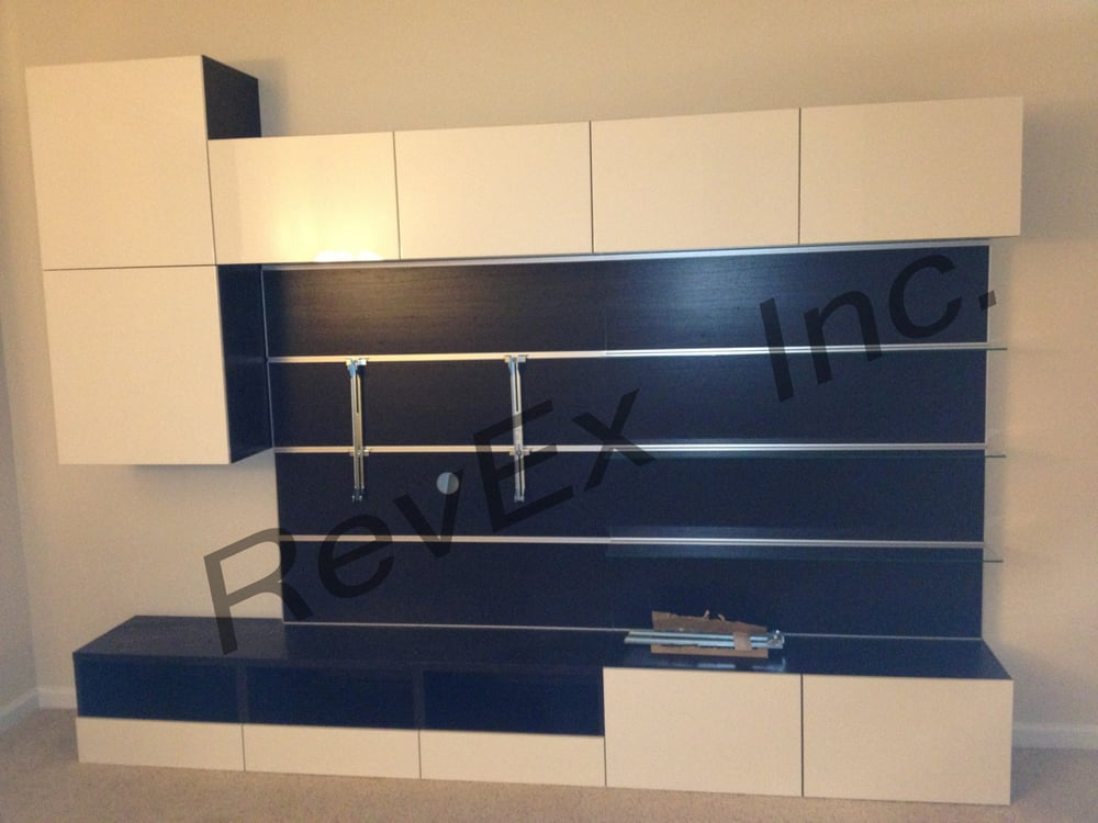 ikea besta unit with framsta panels yelp. Black Bedroom Furniture Sets. Home Design Ideas