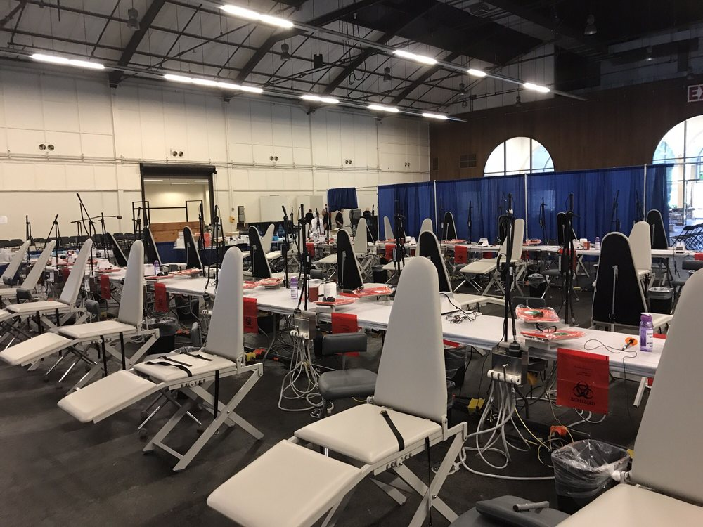 setting up for california dental association cares for this weekend will be providing free. Black Bedroom Furniture Sets. Home Design Ideas