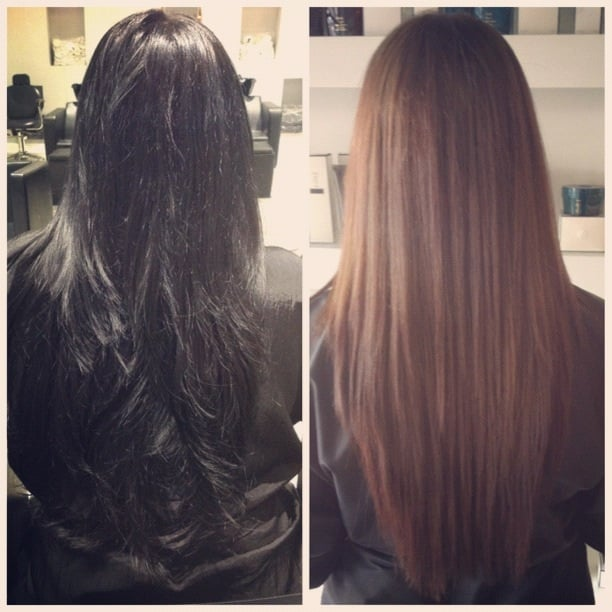 Black to light brown! By Virginia! My natural long healthy ...