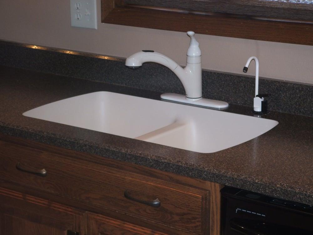A Karran Undermount Sink In A Laminate Sink Yelp