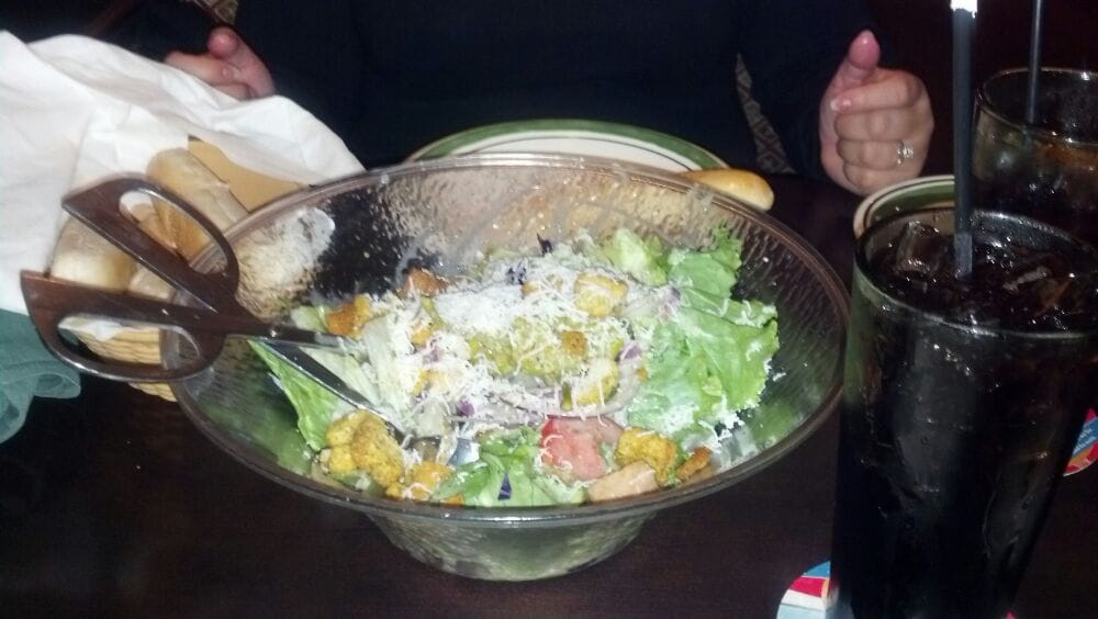 Unlimited house salad oh yeah yelp Olive garden italian restaurant new york ny