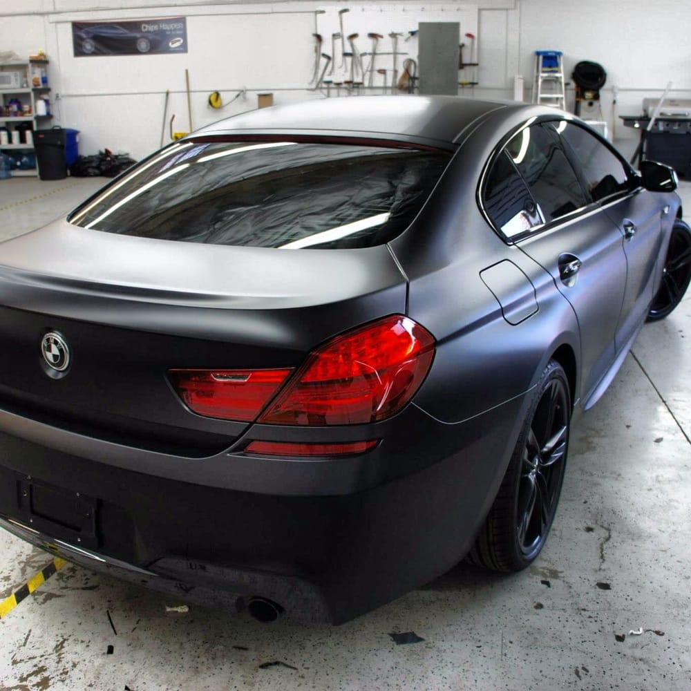 2013 BMW 650i Gran Coupe Matte Black Vinyl Wrap