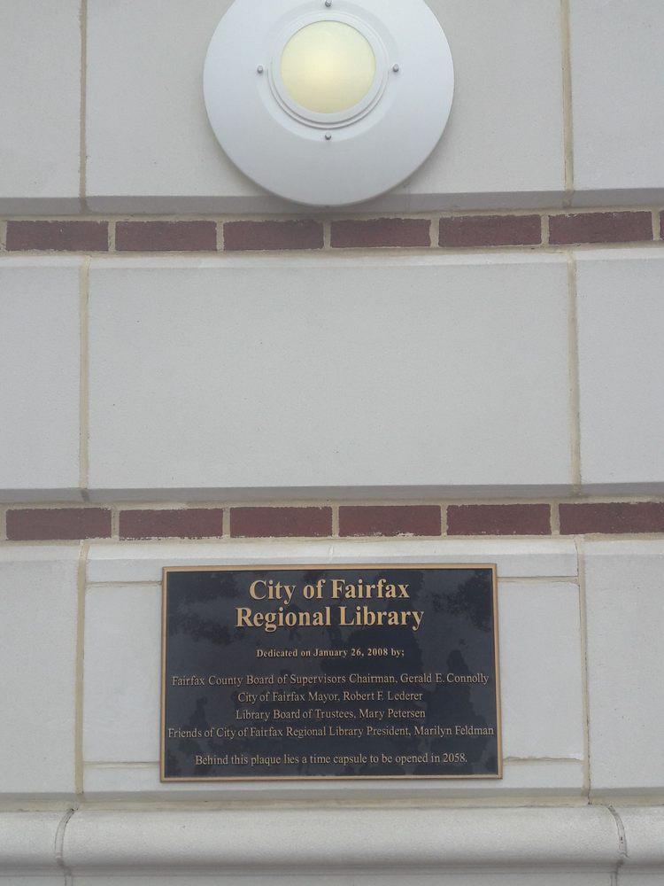 City of Fairfax Regional Library: 10360 North St, Fairfax, VA