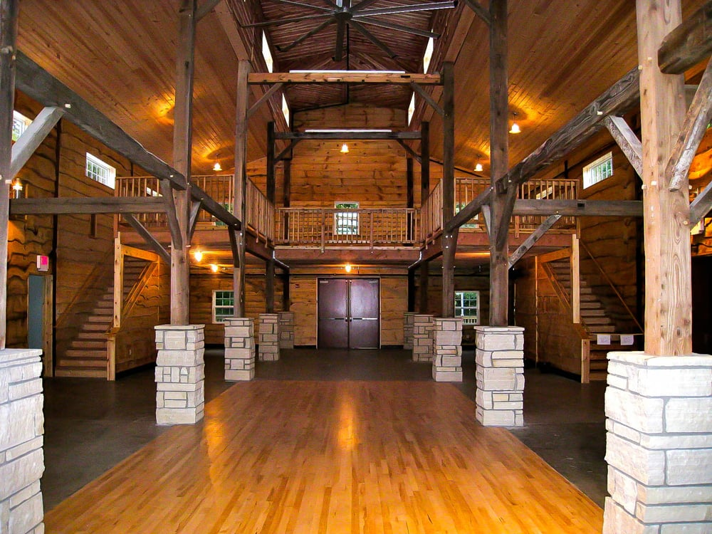 The Inside Of The Timber Frame Barn Yelp