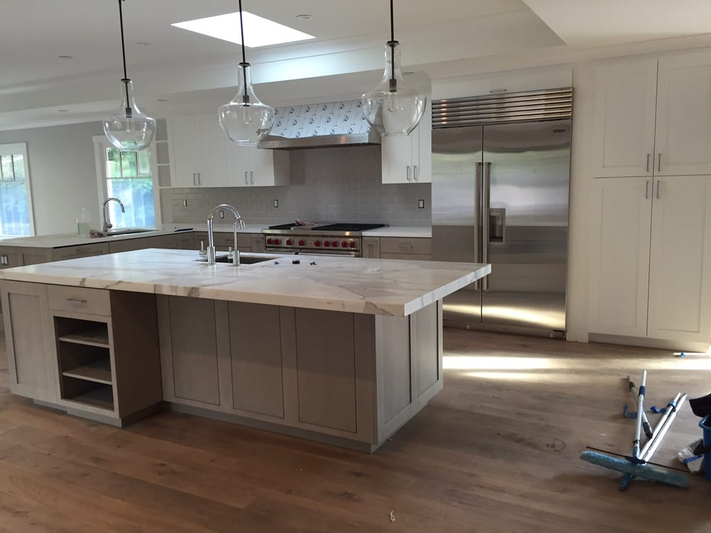 gray stained kitchen cabinets. Photo of Gaos Group  San Francisco CA United States Kitchen cabinets painted top gray stained maple on