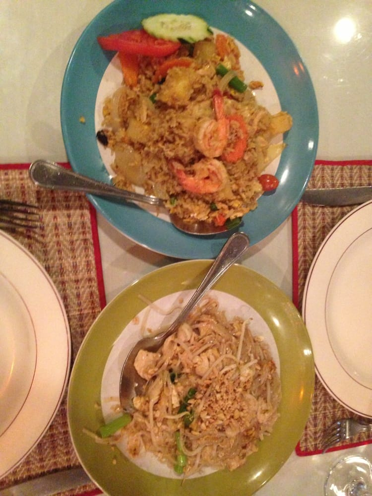 Pineapple fried rice and chicken pad thai yelp for 8 spices thai cuisine