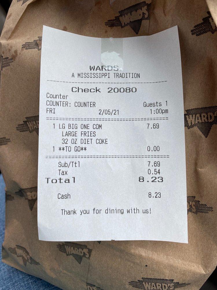 Ward's Fast Food of Ellisville: 403 Hill St, Ellisville, MS