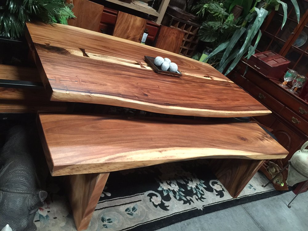 Save on live edge wood slab tables in all sizes and styles for Decor direct