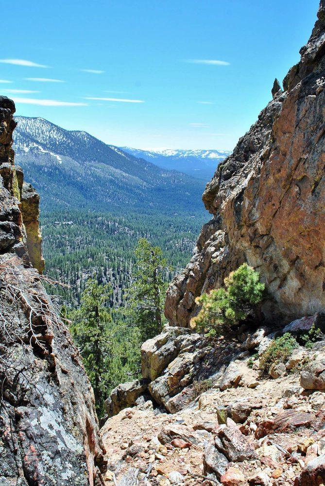 Castle Rock Trailhead: Genoa Peak Rd, Zephyr Cove, NV