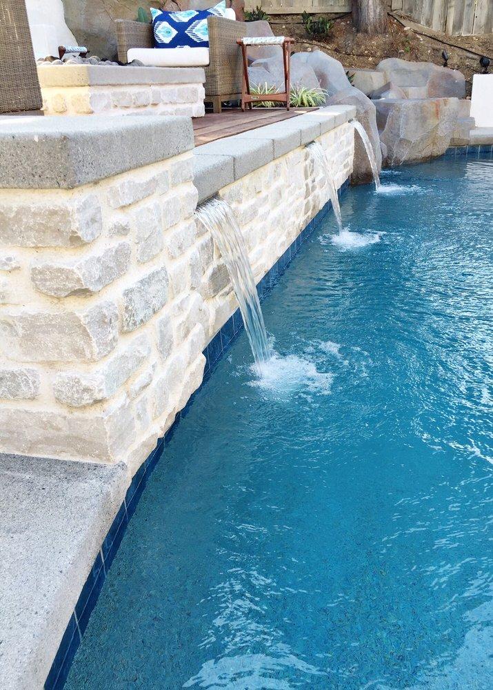 Raised Bond Beam Wall With Sheer Decent Waterfalls Yelp