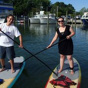 Rudee inlet stand up paddle