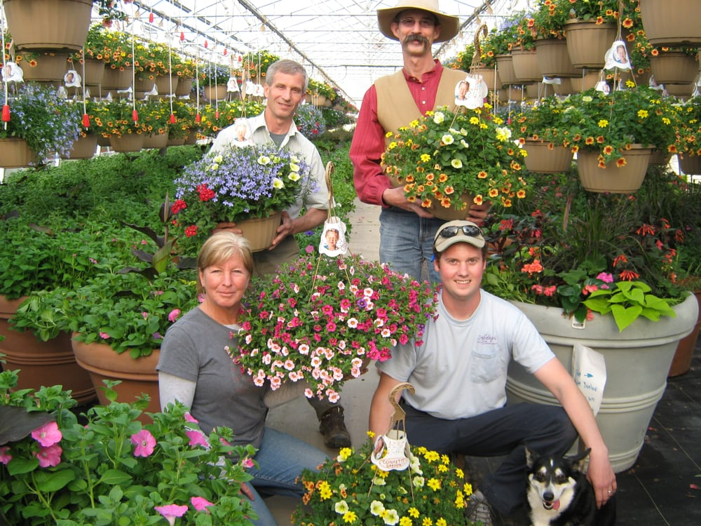 The stockslager family including the dog sarge yelp Telly s greenhouse and garden center