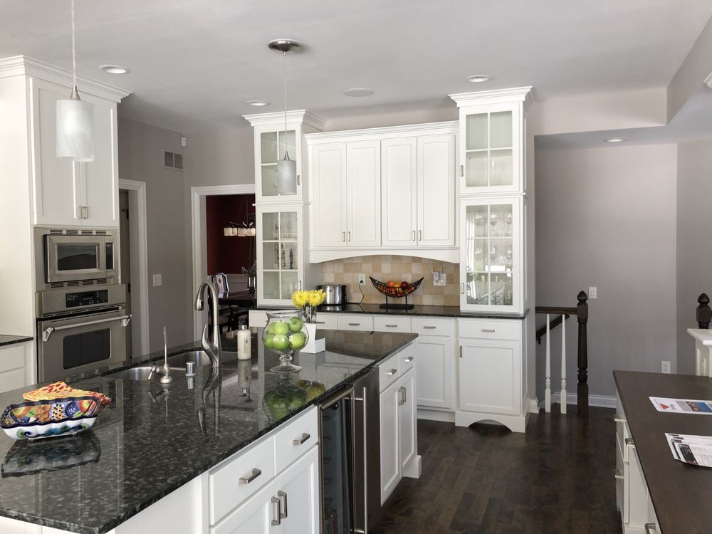 Kitchen Cabinets Changed From Stained Pecan Color To Oil Based Paint