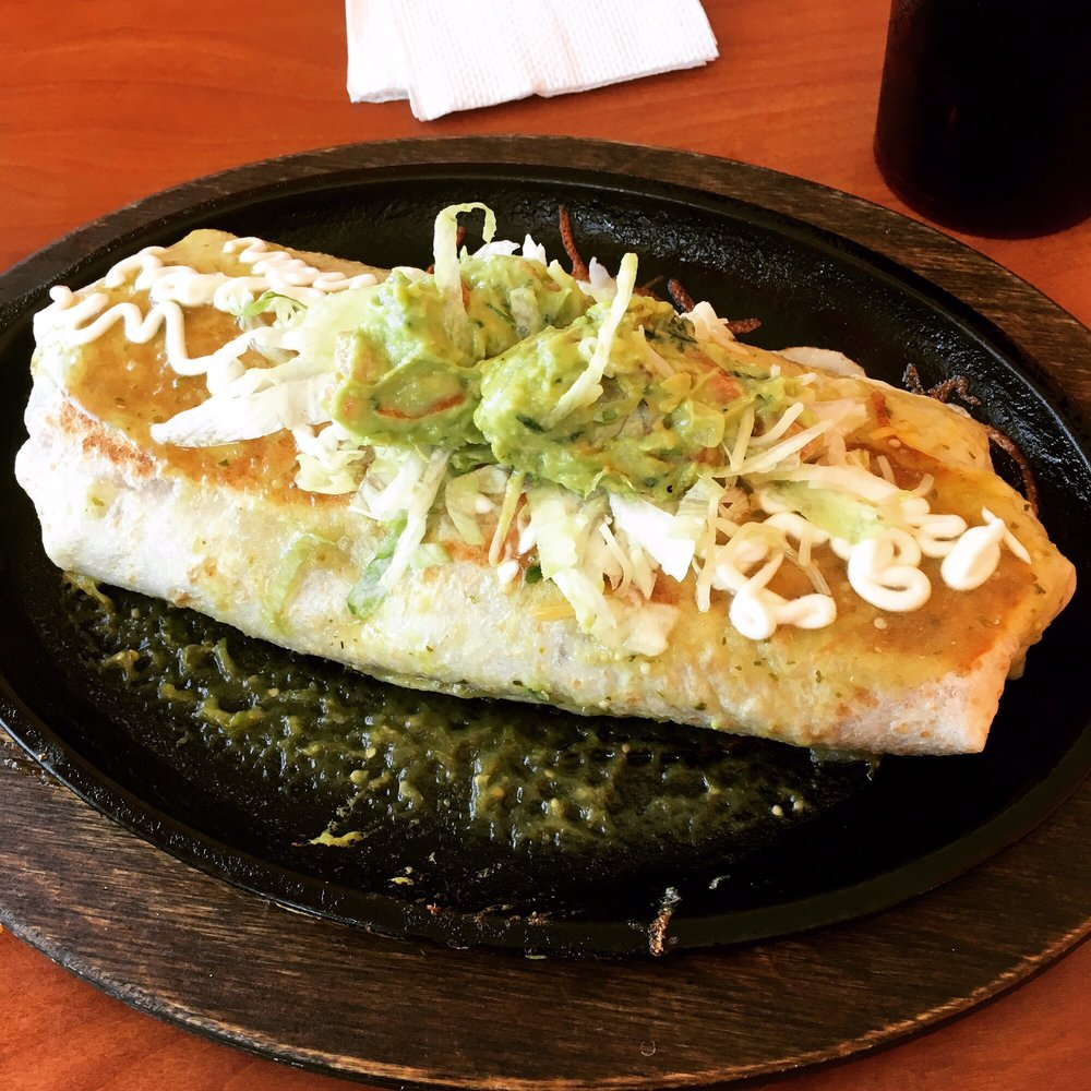 Food from El Super Burrito & Lupita's