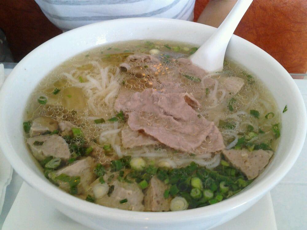 Well done eye round brisket pho w meatballs yelp - Vietnamese cuisine pho ...