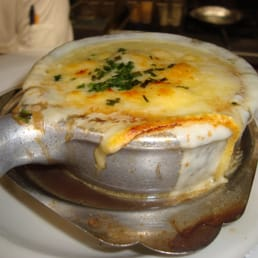 The River Palm Terrace - Edgewater, NJ, United States. French onion soup