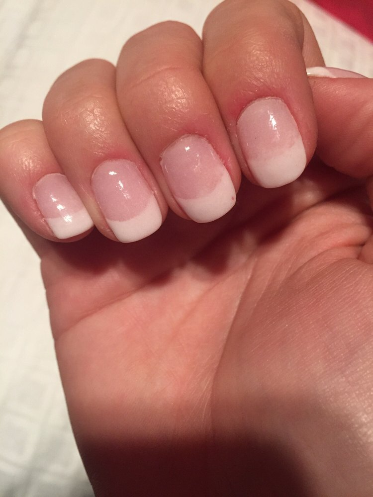 Just got home from getting the dip powder French done on my nails ...