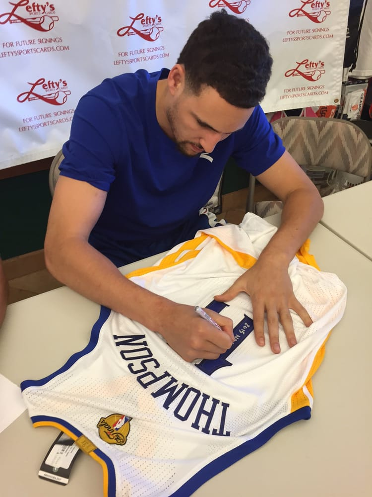 check out 6ffda ad591 In-store appearance by GSW Klay Thompson signing my Finals ...