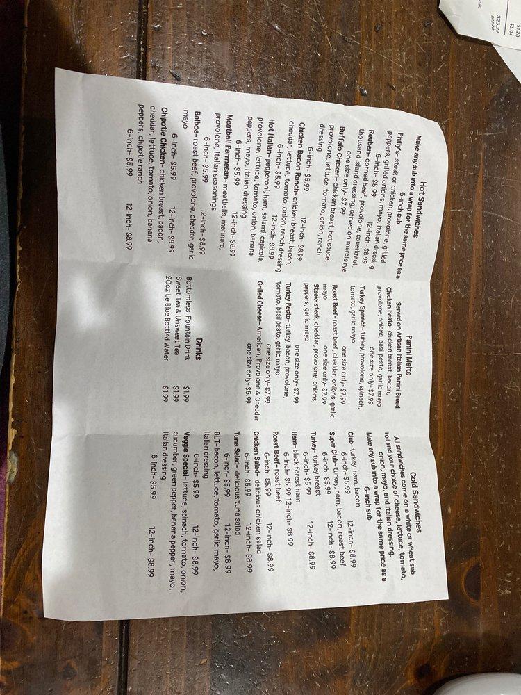 Barefoot's Sandwich Shoppe: 106 Martin Luther King Dr, Elizabethtown, NC
