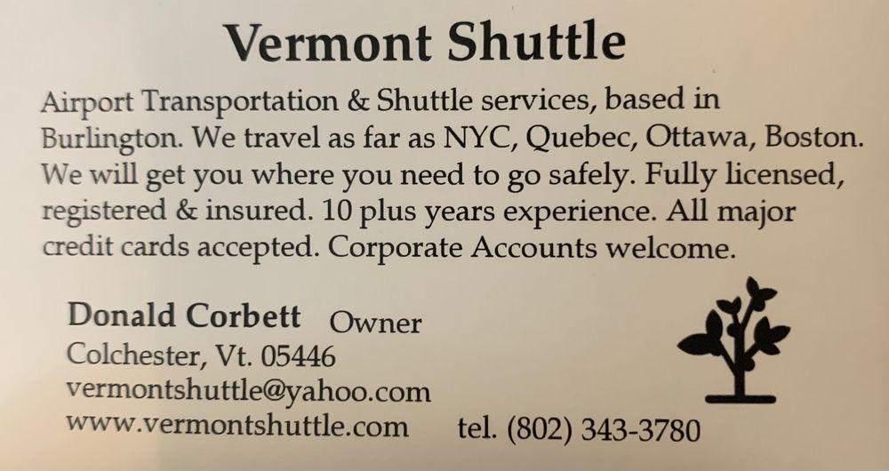 Vermont Shuttle: 34 Radford Ln, Colchester, VT