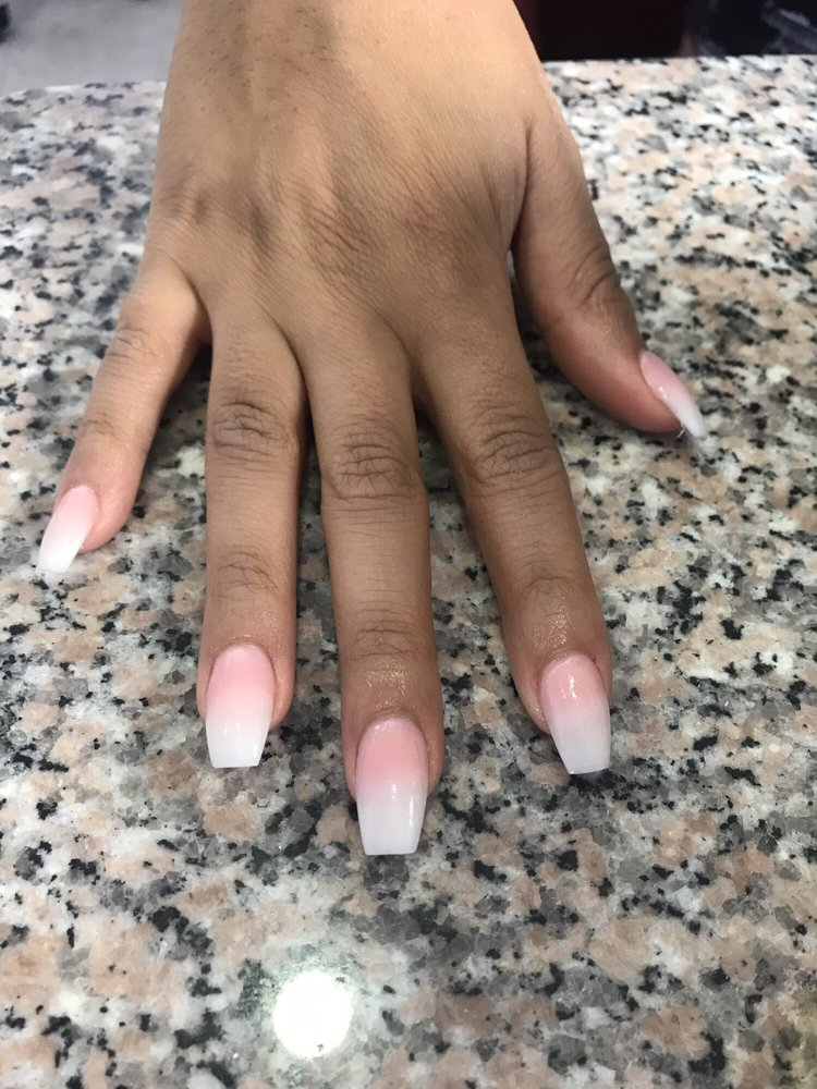 Ombré French tip nails. - Yelp