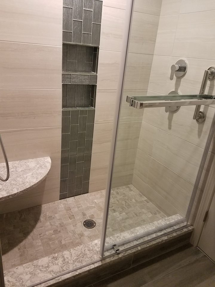 Cambria Berwyn custom shower seat and sill - Yelp