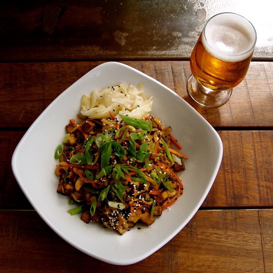 Yakisoba Features Buckwheat Soba Noodles And Jidori Chicken And Can Be Made Vegetarian By