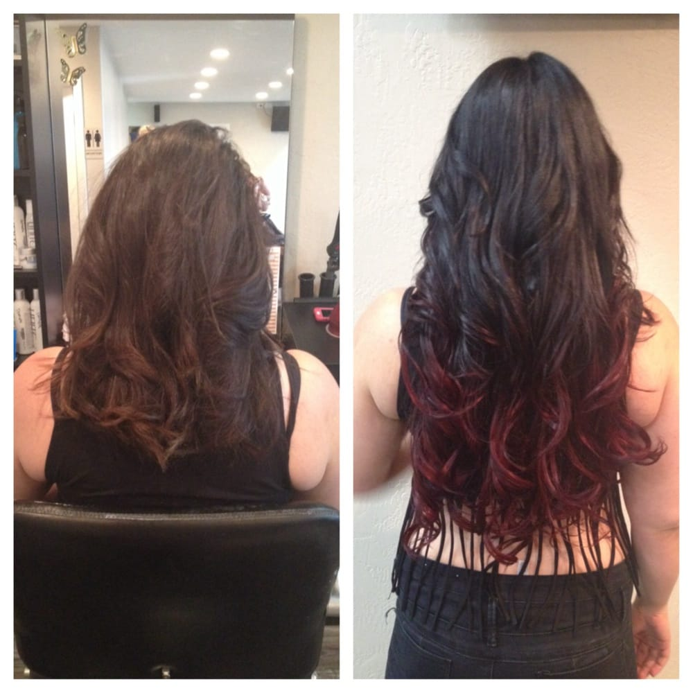Hair Style Seat : ... and after micro link hair extensions, ombr? and style by Erin Dunaway