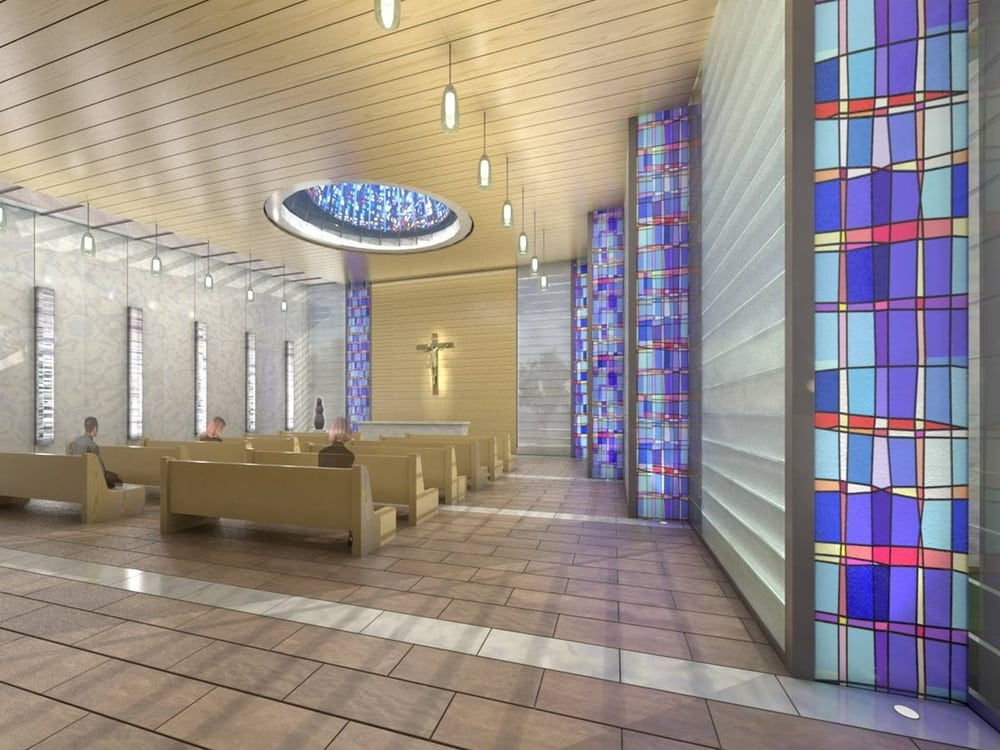 This is a rendering of the new chapel at Exempla Saint