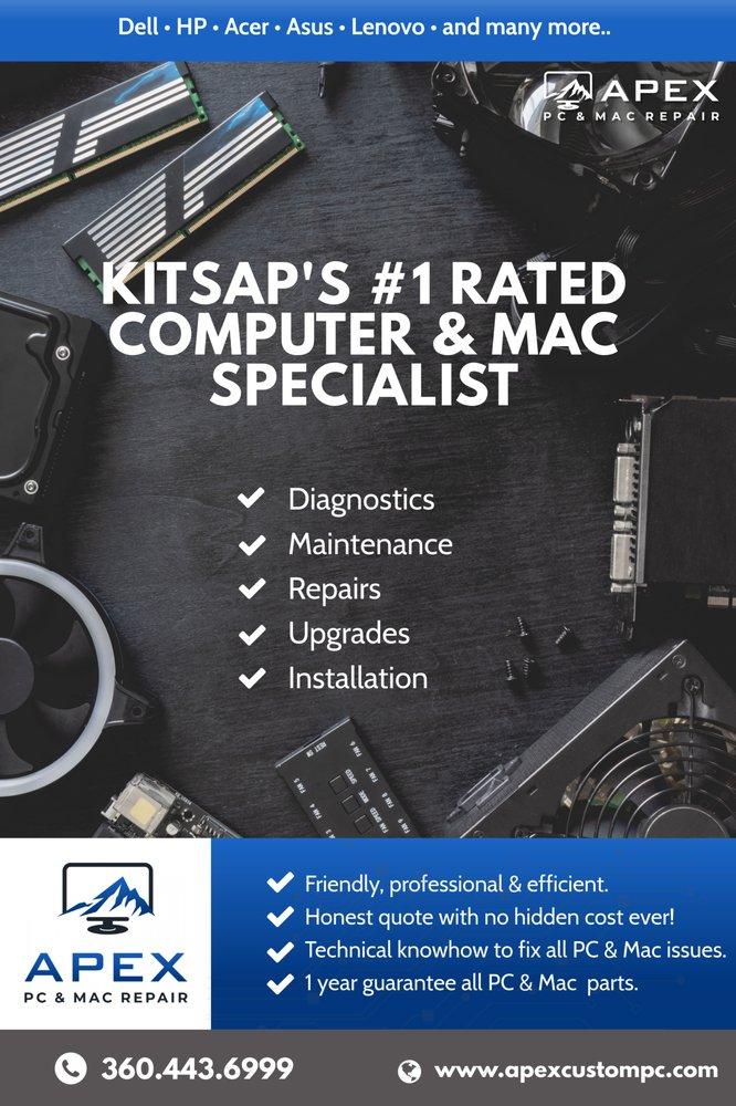 Apex PC & Mac Repair, iPhone & Smartphone Repair: 1521 SE Piperberry Way, Port Orchard, WA