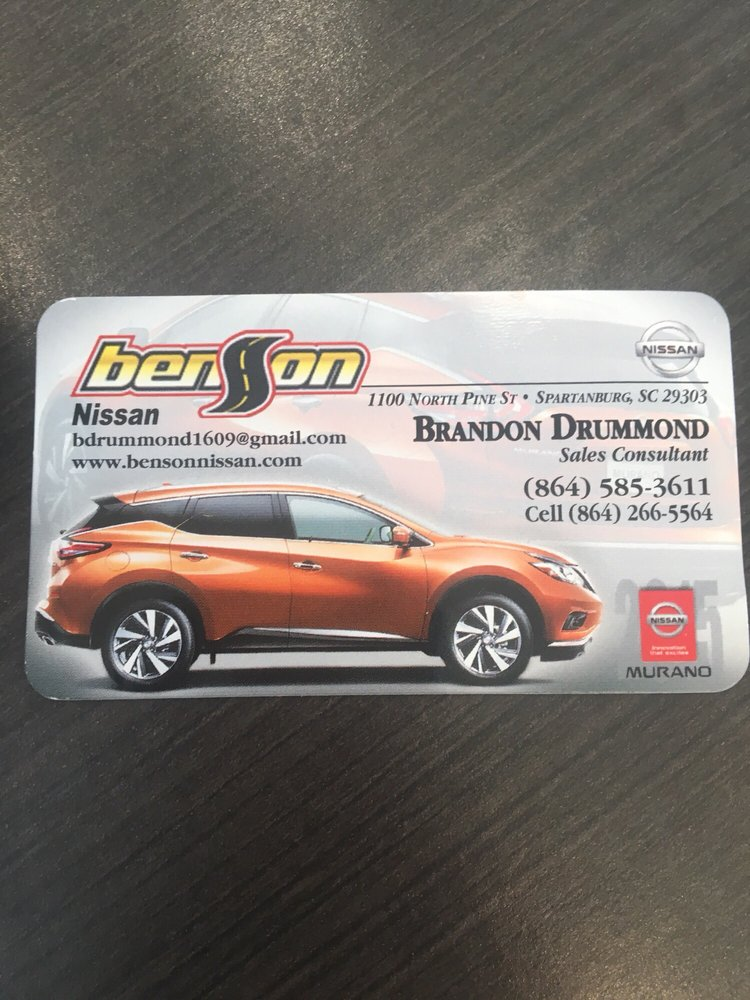 benson nissan car dealers 1100 n pine st spartanburg sc phone number yelp. Black Bedroom Furniture Sets. Home Design Ideas