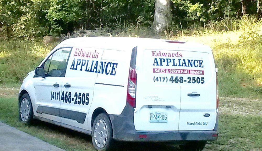 Edwards Appliance Sales/Service & Storage: 14139 State Hwy 38, Marshfield, MO