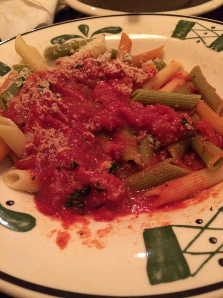 Tri Colored Vegetable Penne Marinara Sauce Yelp