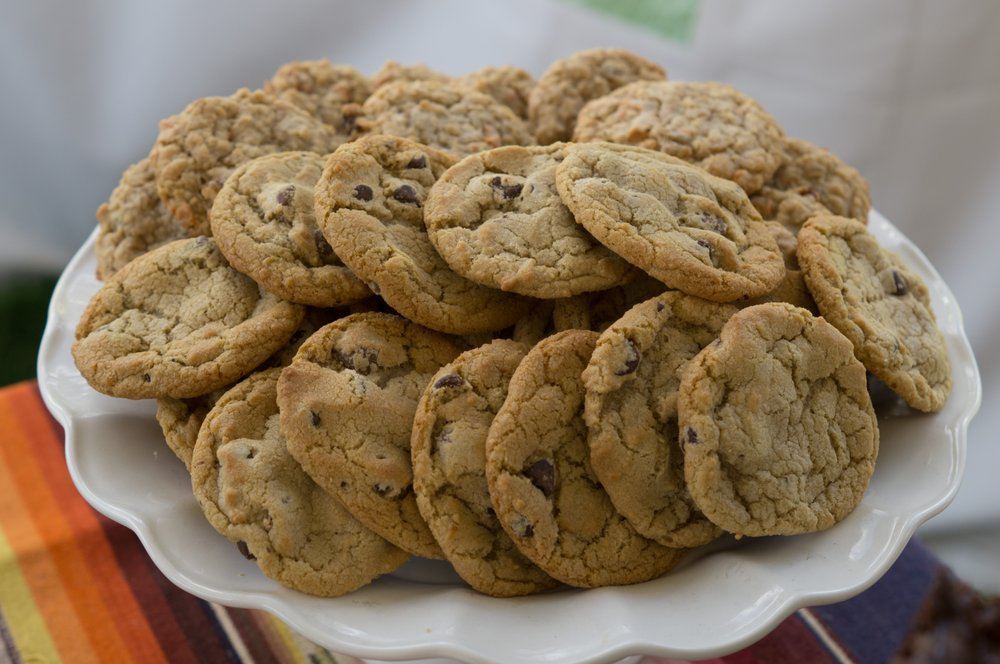 Fresh baked chocolate chip cookies for a wedding table - Yelp