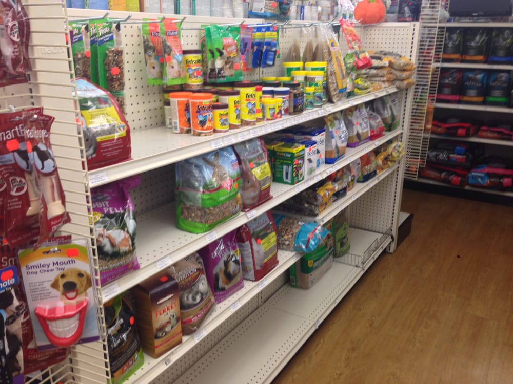 Variety of small bird fish and reptile food and supplies for Fish stores in ma